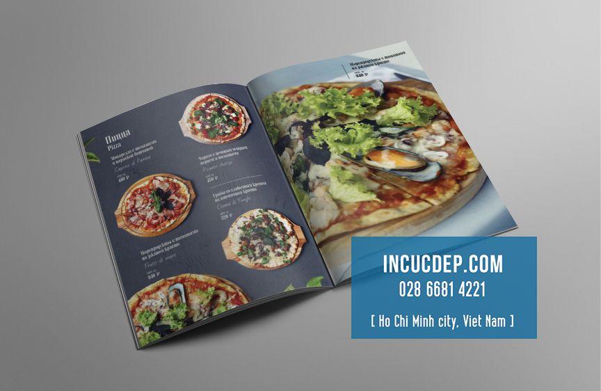 Thiết kế thực đơn nhà hàng Pizza