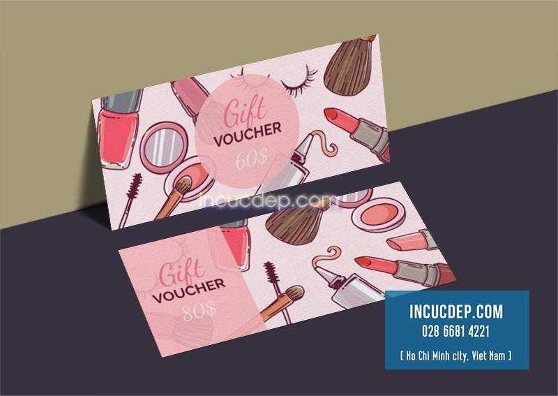 Thiết kế - in voucher mỹ phẩm