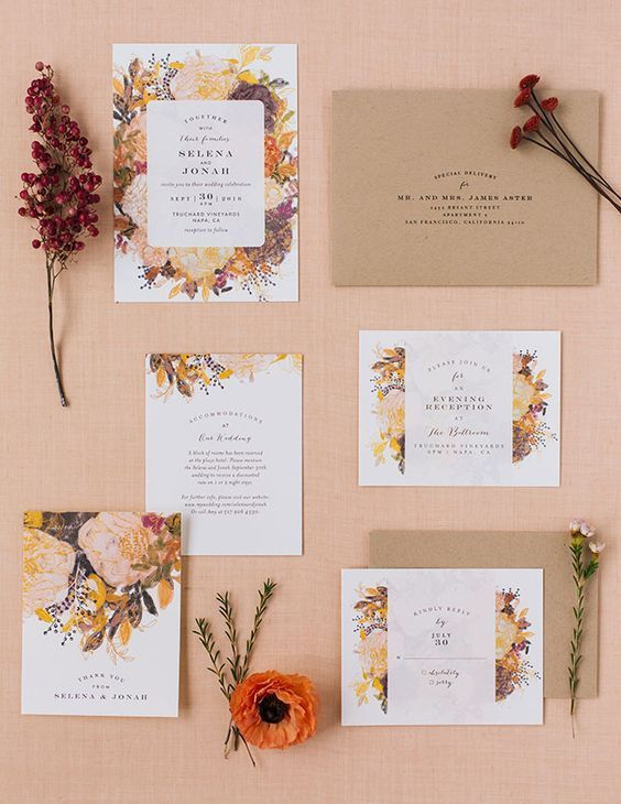 Mẫu thiết kế thiệp mời đẹp nguyên set ấn tượng