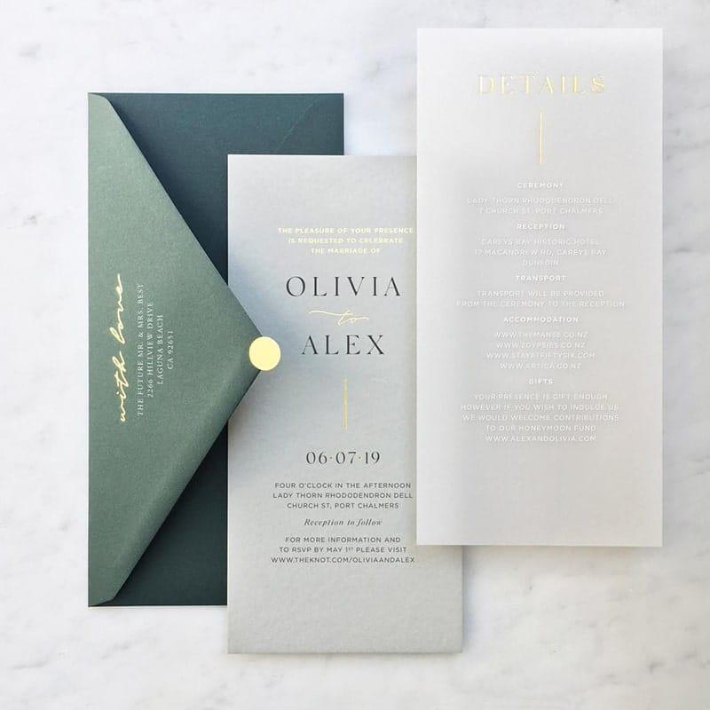 Mẫu thiết kế thiệp mời trong suốt