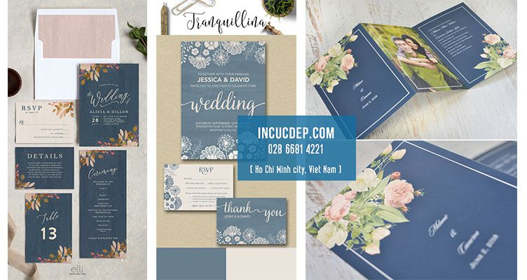 Thiết kế thiệp mời đẹp với các loại hoa màu nước