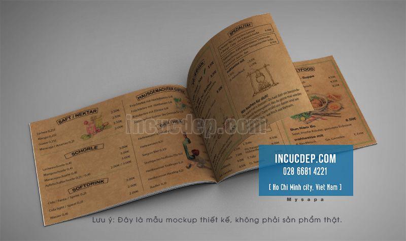 Kiểu thiết kế menu cổ điển khổ ngang