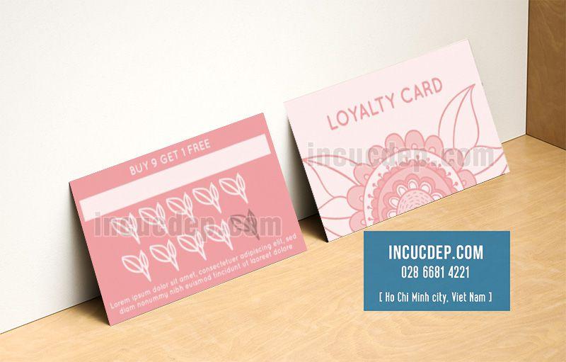 Tự thiết kế phiếu tích điểm với mẫu màu hồng cute