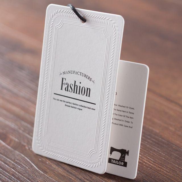 Mẫu thẻ treo fashion dập nổi