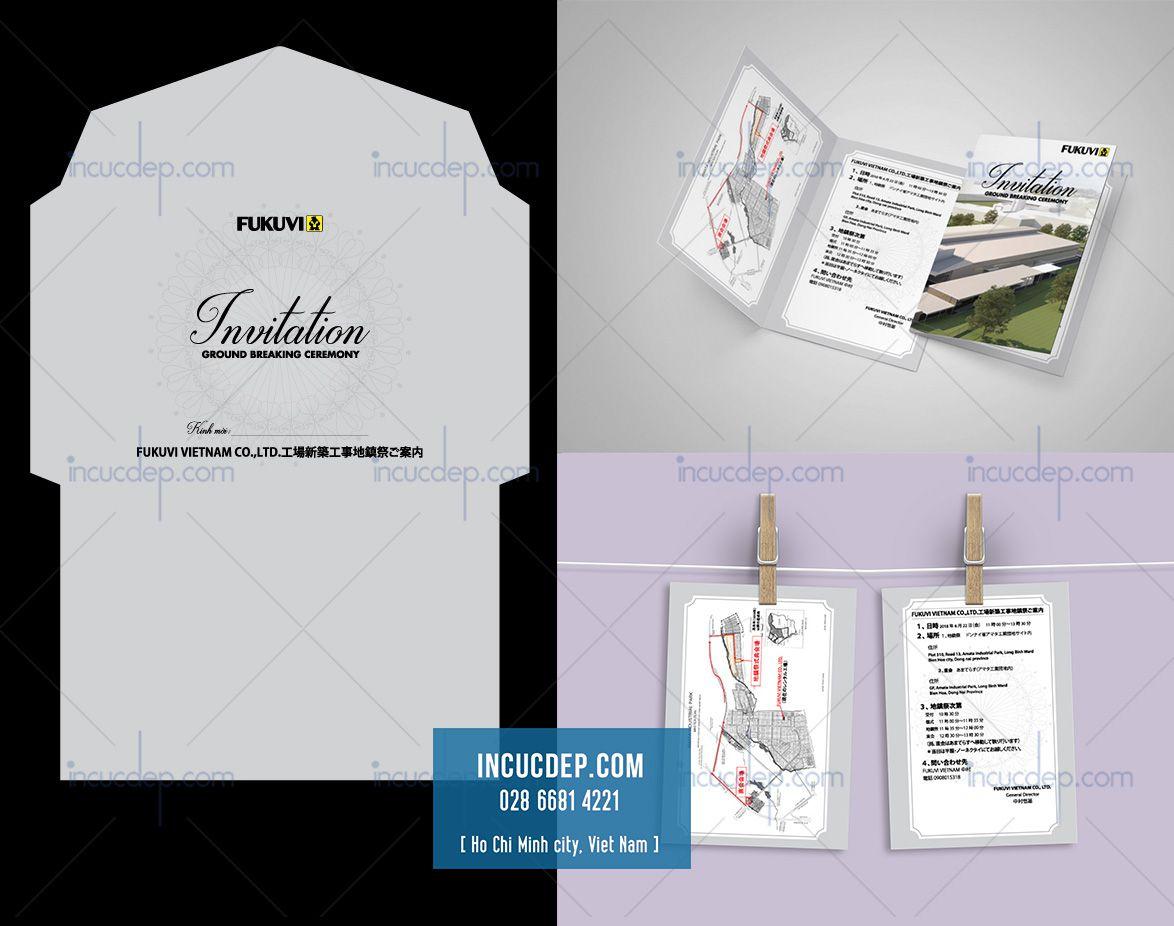 Thiết kế thiệp mời khai trương dự án bất động sản