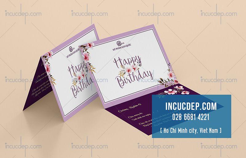 Thiệp mời dự tiệc sinh nhật đơn giản