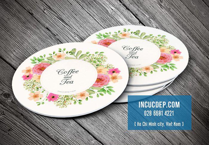 Thiết kế lót ly giấy đẹp với vector hoa