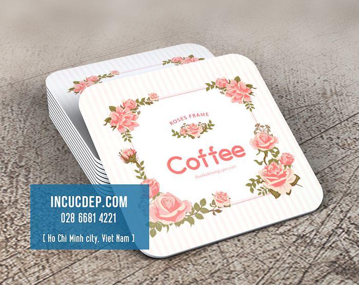 Mẫu đế lót ly giấy đẹp cho quán coffee