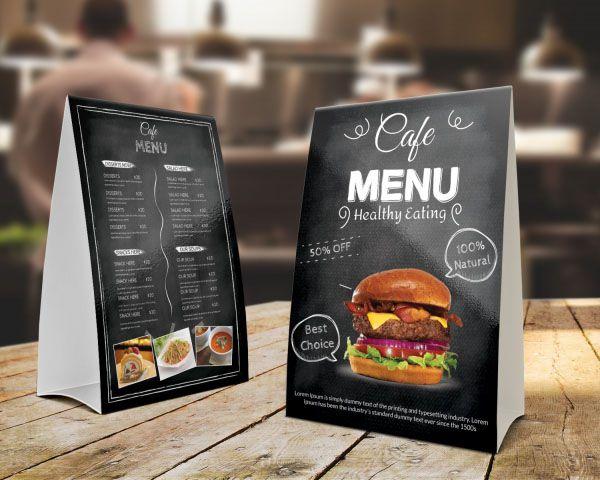 Thiết kế menu chữ A đẹp cho quán cafe văn phòng