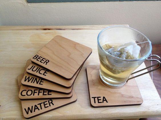 Miếng lót ly gỗ hình vuông