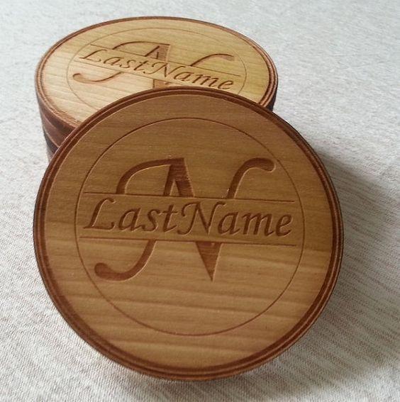 Miếng lót ly gỗ khắc Laser khác biệt đỉnh cao