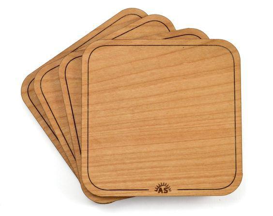 Làm lót ly gỗ tphcm, mẫu đế lót ly gỗ hình vuông chất lượng cao