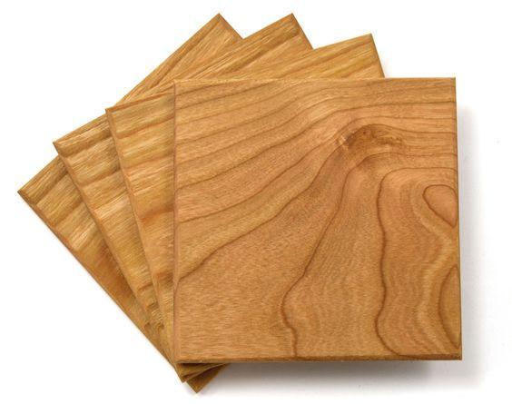 Làm lót ly gỗ tphcm, mẫu lót ly gỗ hình vuông chất lượng cao