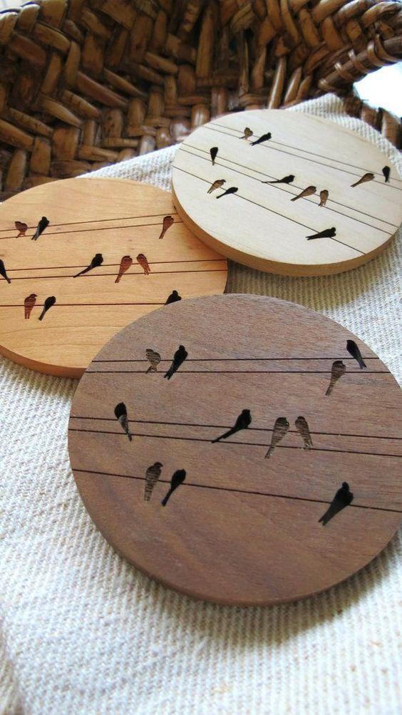 Miếng lót ly gỗ bền rẻ đẹp
