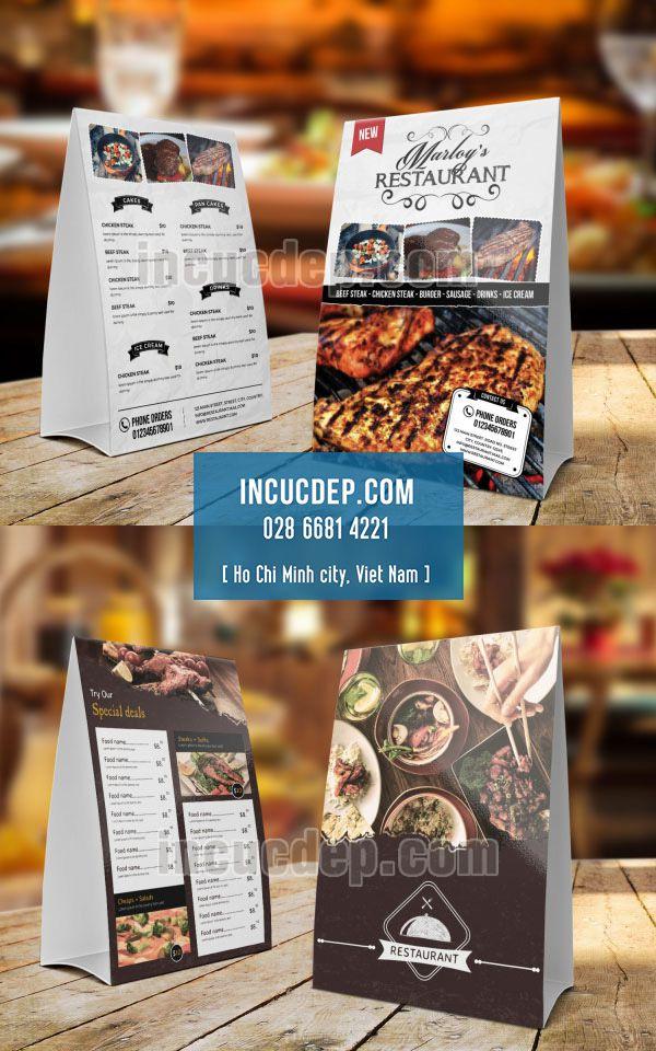 Thiết kế thực đơn - menu chữ A cho nhà hàng