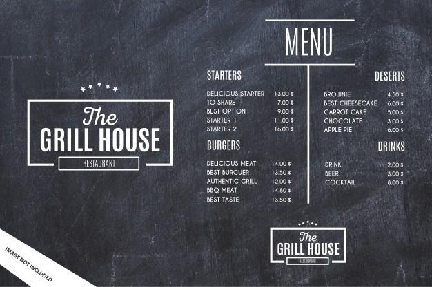 Photo of 10 mẫu thiết kế menu miễn phí mẫu thực đơn có sẵn