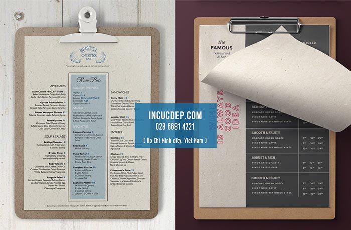 Thiết kế menu cổ điển theo hướng cách tân