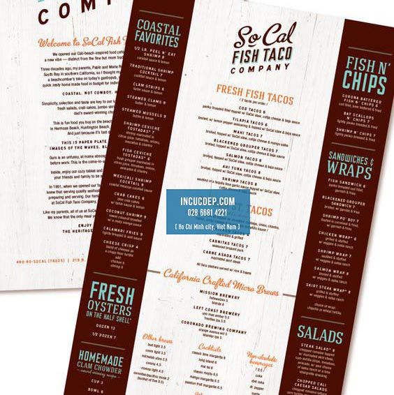 Thiết kế menu thực đơn cổ điển cách tân