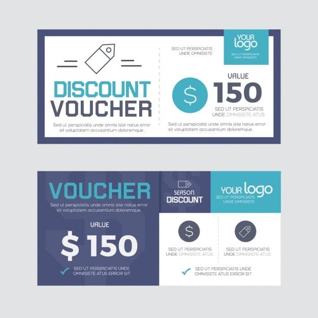 Kiểu thiết kế voucher mở phẳng hiện đại