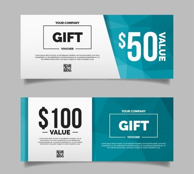 Thiết kế voucher đẹp với phương pháp thiết kế phẳng