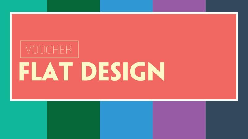 Mẫu thiết kế voucher phẳng được yêu thích nhất năm 2018