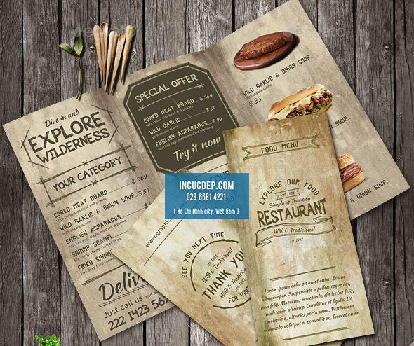 Thực đơn cổ điển - dạng menu gấp 3