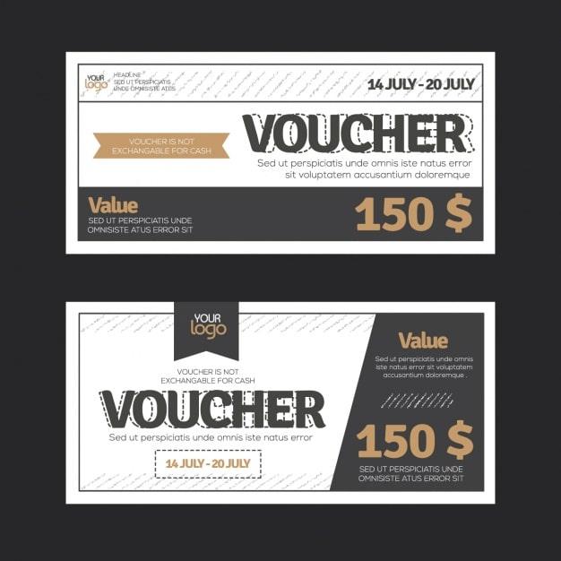 Làm voucher phiếu quà tặng với thiết kế phẳng