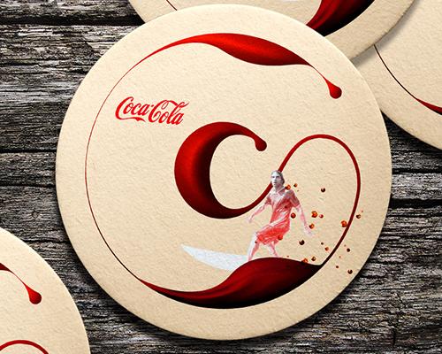 Mẫu lót ly hãng giải khát coca