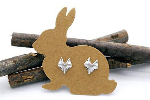 Mẫu thẻ treo phụ kiện hình thỏ