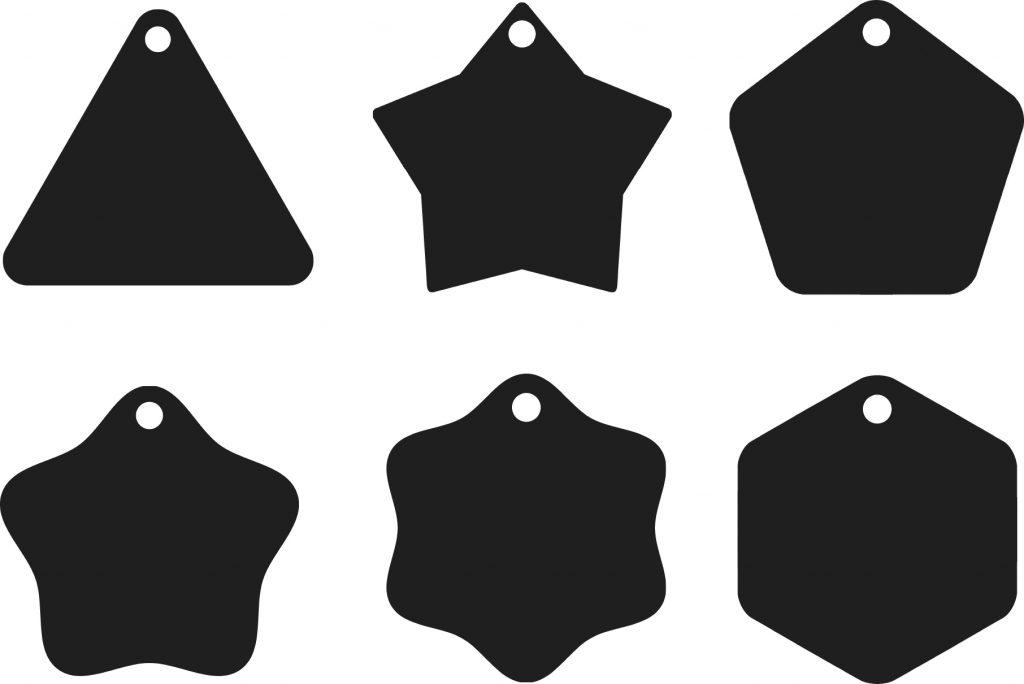 Bộ thẻ treo hình tam giác và biến hóa từ nó