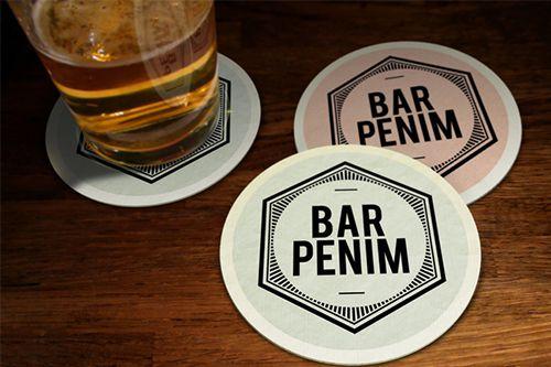 Mẫu thiêt kế lót ly bia dành cho quán bar
