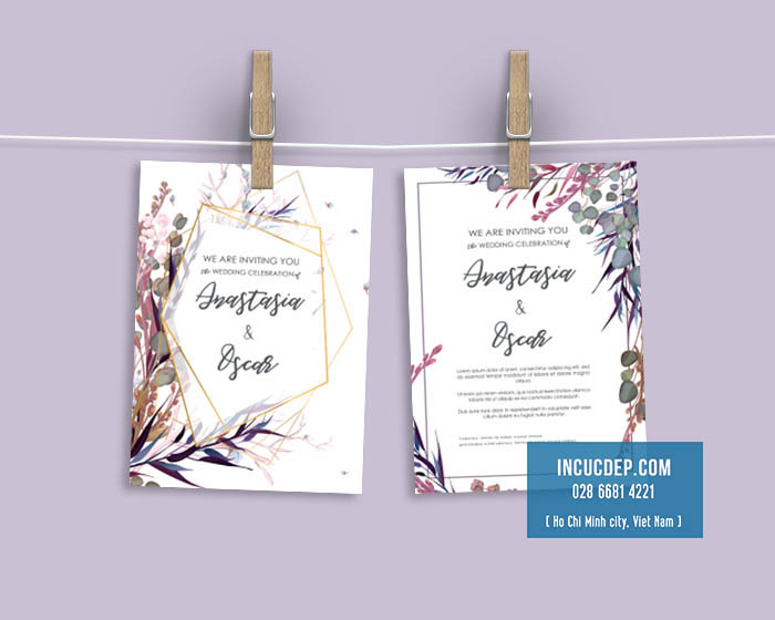 Thiết kế thiệp mời đẹp với phong cách giản dị