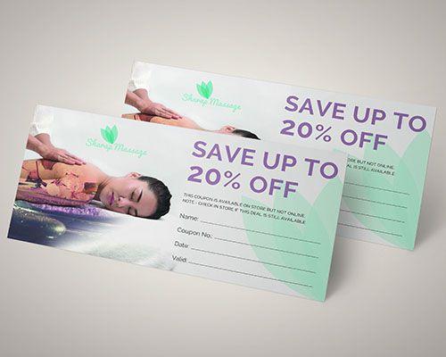 Mẫu voucher dành cho kinh doanh spa hoặc massage