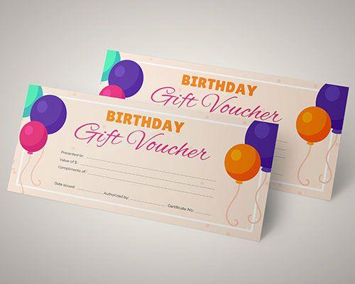 Phiếu giảm giá dành tặng khách hàng trong ngày sinh nhật của họ