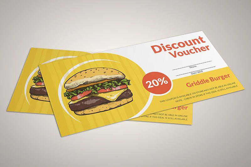 Thiết kế voucher cho cửa hàng thức ăn nhanh