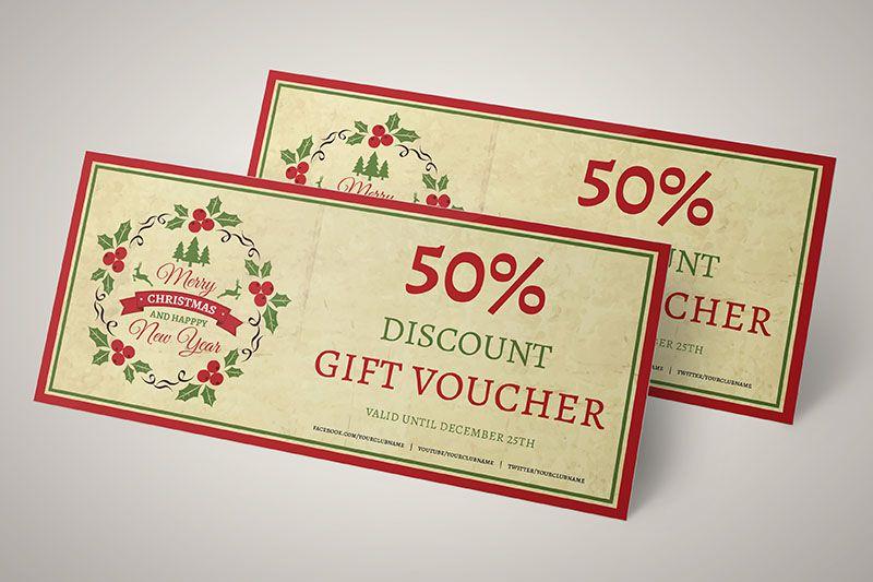 Mẫu thiết kế voucher dành riêng cho dịp giáng sinh