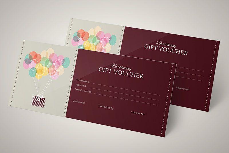 Tấm voucher dành tặng khách hàng trong ngày sinh nhật của họ