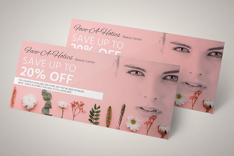 Thu hút khách hàng với những tấm voucher được thiết kế ấn tượng