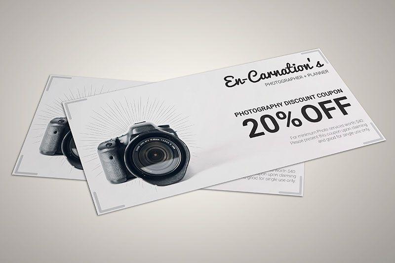 Thiết kế voucher cho nhiếp ảnh gia