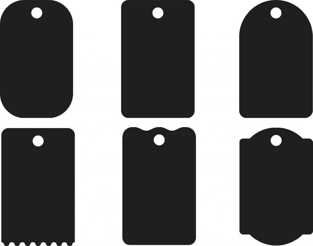 Bộ thẻ treo sáng tạo từ hình chữ nhật