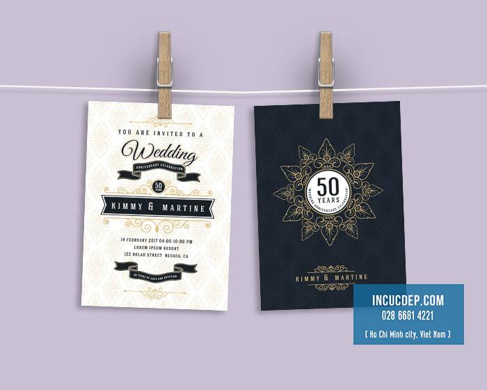 Mẫu thiết kế thiệp mời đẹp cho lễ kỷ niệm ngày cưới