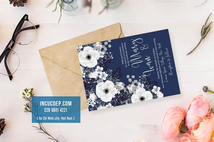 Thiệp mời đẹp với vector hoa màu nước