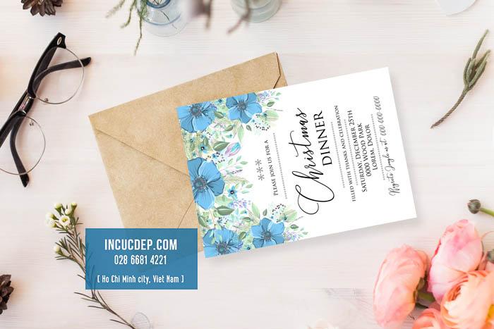 Thiết kế thiệp mời màu nước xinh đẹp nhã nhặn