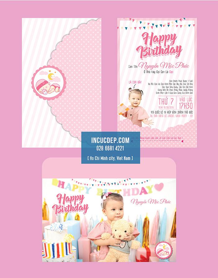 Mẫu thiệp mời sinh nhật dễ thương cho bé