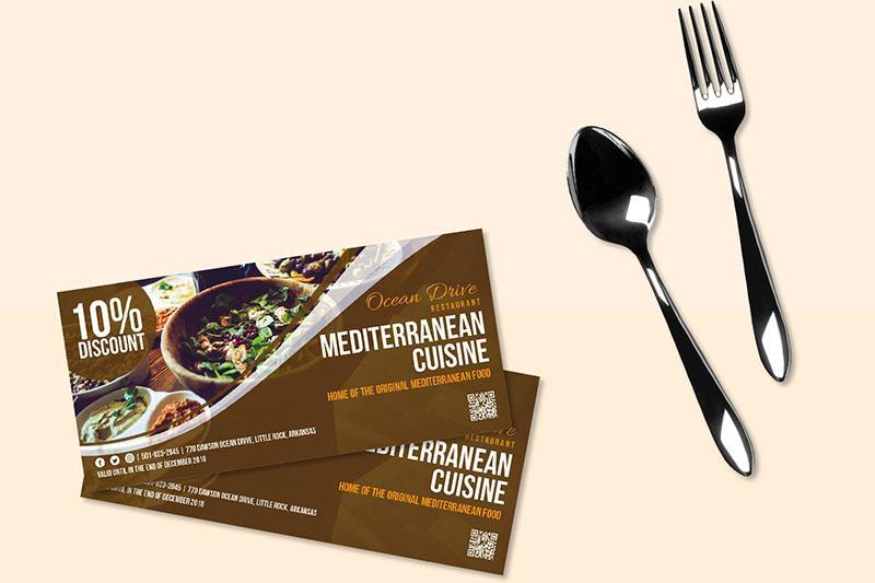 Mẫu thiết kế voucher nhà hàng