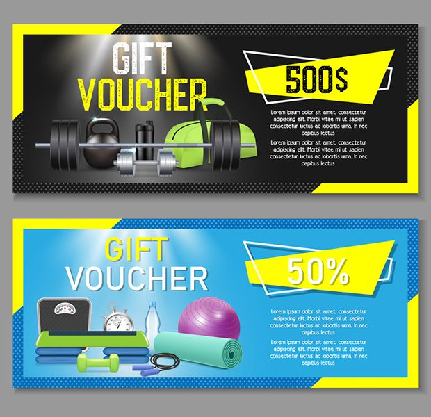 Mẫu gift voucher dành cho phòng gym