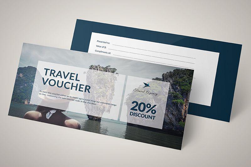 Mẫu voucher giảm giá cho mùa du lịch