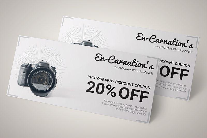 Tấm voucher giảm giá nhiếp ảnh siêu đẹp