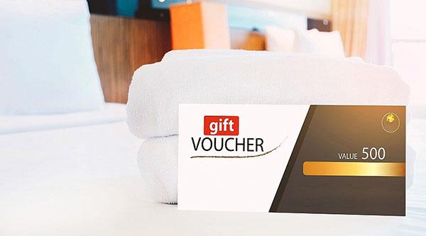 Mẫu voucher khách sạn thiết kế theo phong cách sang trọng