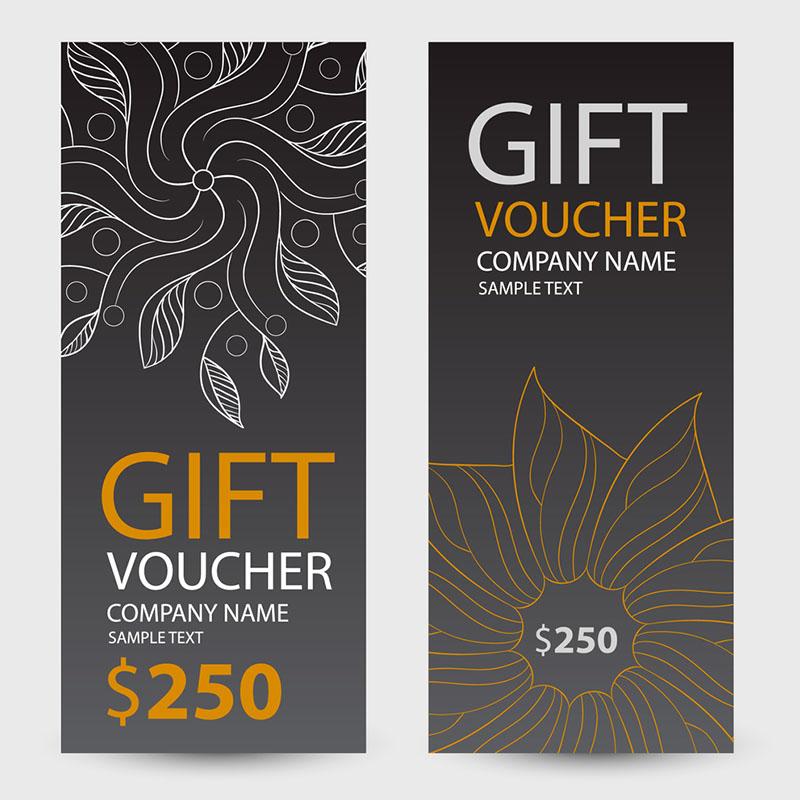 Thiết kế voucher theo phong cách trừu tượng